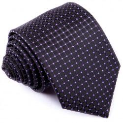 Čiernofialová luxusná kravata Greg 91200