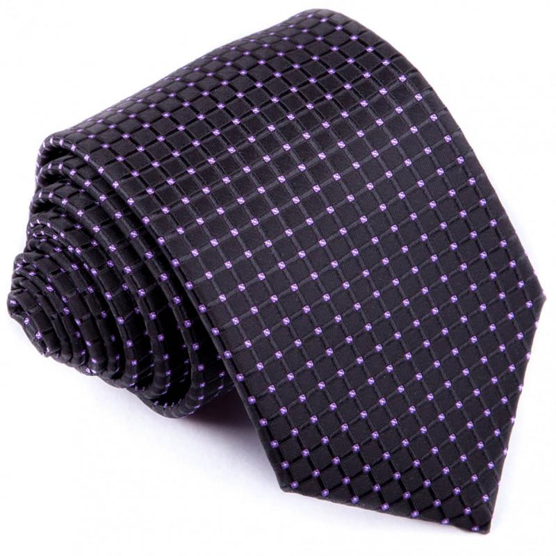 1ba8dabb0f68 Čiernofialová luxusná kravata Greg 91200