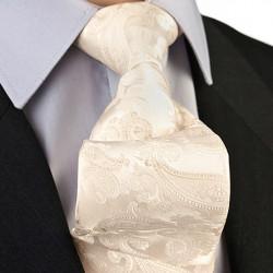 Vanilková svadobná kravata Greg 92898
