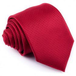 Tmavo červená kravata mriežka Greg 93200