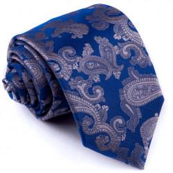 Kravata modrá sivý kašmírový vzor Greg 94265