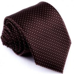 Hnedá bodkovaná kravata Greg 92889