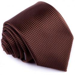Tmavo hnedá kravata Greg 92892