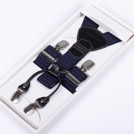 Luxusné modré traky kožená pútka Assante 90044