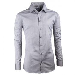 Sivá elegantné košele vypasovaná slim fit Aramgad 30140