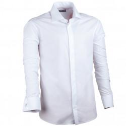Nadmerná košele na manžetový gombík rovná biela Assante 31012