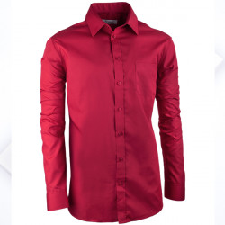 Bordó pánska košeľa reguler fit s dlhým rukávom Aramgad 30386