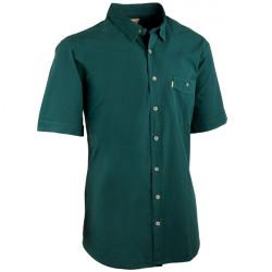Lahvově zelená pánské košile krátký rukáv rovný střih Tonelli 110819