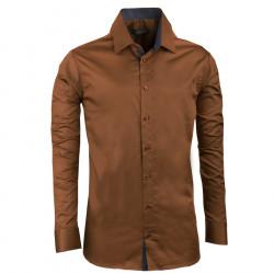 Nadmerná košele 100% bavlna bronzová Assante 31032