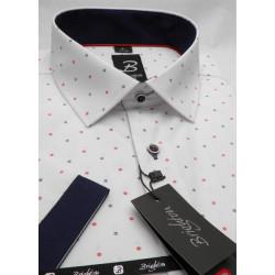 Modrá pánská košile s krátkým rukávem rovný střih Brighton 109980
