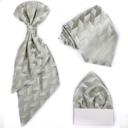 Zelená regata, kravata, vreckovka, slávnostná súprava Assante 90672