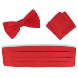 Červený smokingový pás - šerpa set Assante 90414