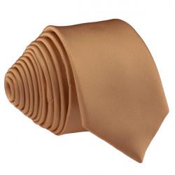 Hnedá kravata slim fit Romendik 99126