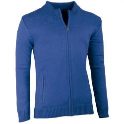Modrý pánsky sveter na zips Assante 51011