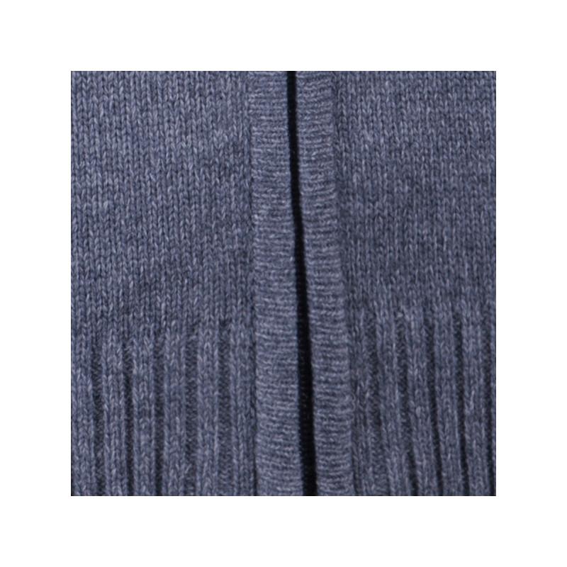 ec0b529fc4f6 Sivý pánsky sveter na zips Assante 51013