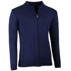 Tmavomodrý pánsky sveter na zips Assante 51015