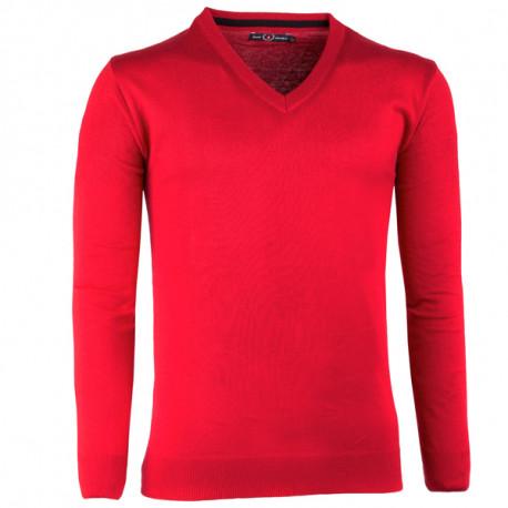 86061987903a Červený pánsky sveter tenký Scot Sanders 167023