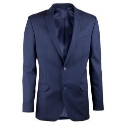Predĺžené pánske sako modré na výšku 188 - 194 cm Assante 60005