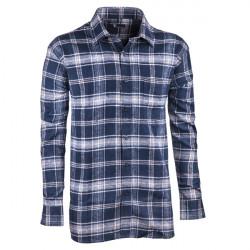 Modrá flanelová košeľa s dlhým rukávom rovná Friends and Rebels 30817