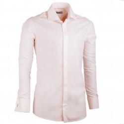 Predĺžená pánska košeľa slim fit šampaň Assante 20207