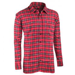 Červená flanelová košeľa s dlhým rukávom rovná Friends and Rebels 30818