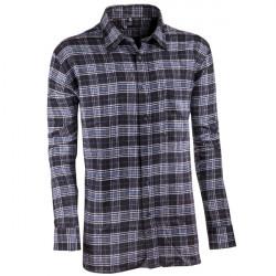 Sivočierna flanelová košeľa s dlhým rukávom rovná Friends and Rebels 30819