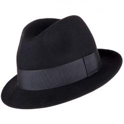 Pánsky čierny klobúk Assante 85032