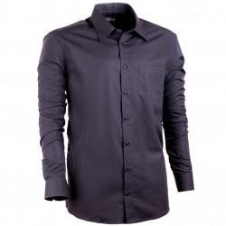 Nadmerná pánska košeľa 100% bavlna rovná čierna Assante 31025