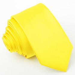 Žltá slim fit kravata Greg 99184