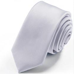 Strieborná kravata jednofarebná Greg 99911
