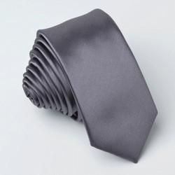 Tmavo sivá kravata jednofarebná Greg 99913