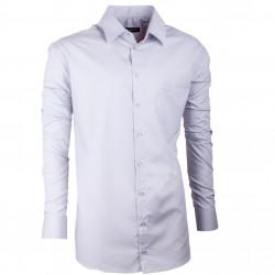 Predĺžená pánska košeľa slim šedá Assante 20120