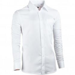 Biela pánska košeľa Assante rovná 30050