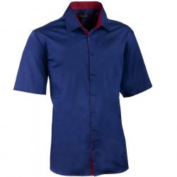 Pánska kobaltová košeľa slim krátky rukáv 100% bavlna non iron Assante 40441