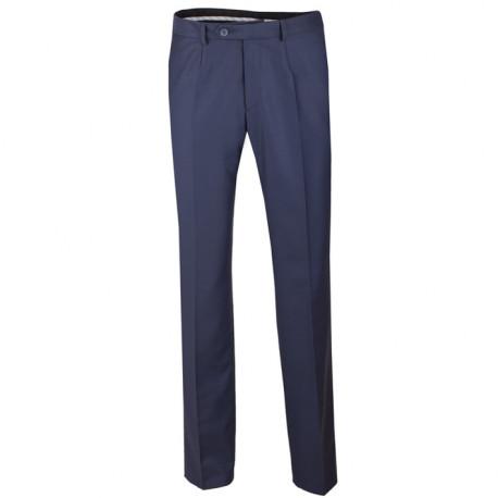 Nadmerné predĺženej pánske spoločenské nohavice modrej na výšku 182 - 188 cm Assante 60525