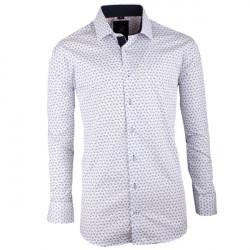 Bílomodrá pánská košile slim fit Brighton 109943