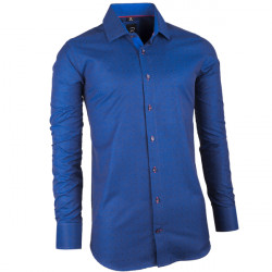 Modrá pánská košile slim fit Brighton 109947