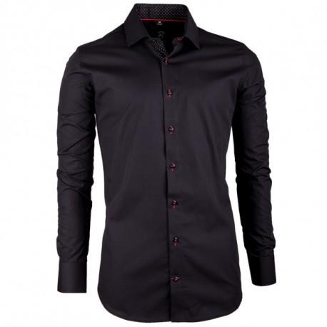 a91a475bd Čierna pánska košeľa slim fit 100% bavlna Brighton 109948