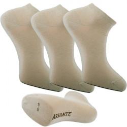 Multipack ponožky 3 páry béžovej antibakteriálne členkové Ag Assante 782