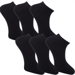 Multipack ponožky 6 párov čierne antibakteriálne členkové Ag Assante 783