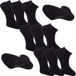 Multipack ponožky 9 párov čierne antibakteriálne členkové Ag Assante 785
