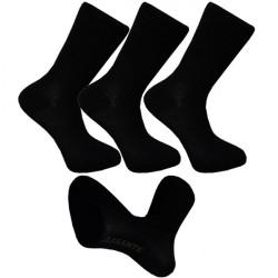 Multipack ponožky 3 páry bambusové čierne pánske Assante 791