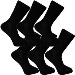 Multipack ponožky 6 párov bavlnené čierne pánske Assante 702