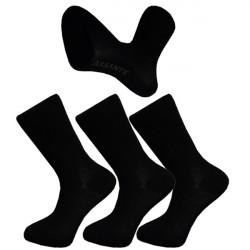 Multipack ponožky 3 páry čierne antibakteriálne so striebrom Assante 710