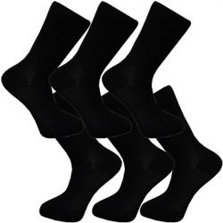 Multipack ponožky 6 párov čierne antibakteriálne so striebrom Assante 711