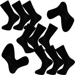 Multipack ponožky 9 párov čierne antibakteriálne so striebrom Assante 712