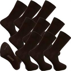 Multipack ponožky 9 párov hnedé antibakteriálne so striebrom Assante 722