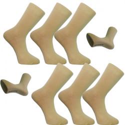 Multipack ponožky 6 párov béžovej antibakteriálne so striebrom Assante 731