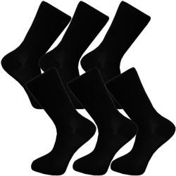 Multipack ponožky 6 párov čierne froté chodidlo Antibakteriál Assante 741