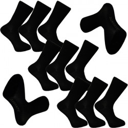 Multipack ponožky 9 párov čierne froté chodidlo Antibakteriál Assante 742